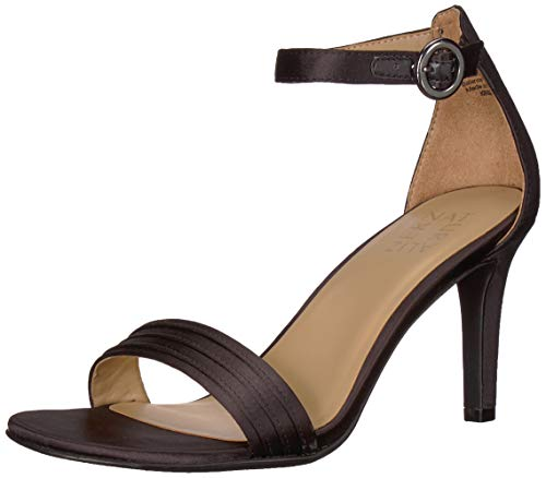 Naturalizer Women's, Kinsley 2 Dress Sandal Black Satin 8.5 M ()