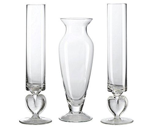 Lillian Rose Glass Unity Sand Vase Set, -