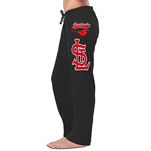 Women's Saint Louis Cardinals Fleece Pants Black Size L (Cardinal Capri)
