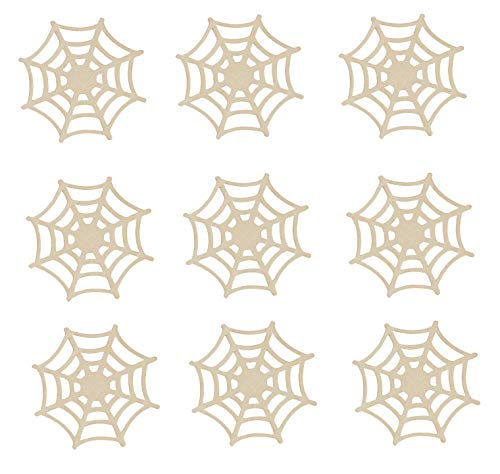 Unfinished Spiderweb Wood Cutouts 4.5