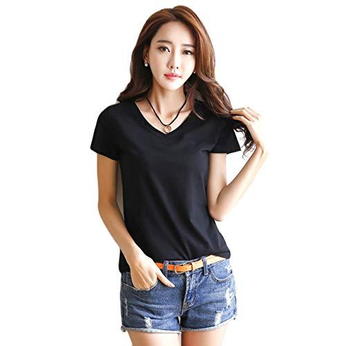 Camicia Manica A 2xl T In Design Comoda Nera Camicie Estiva Semplice shirt Confortevole Le Corta Donna Tutte Abbinare E Cotone Da ID9W2YEH