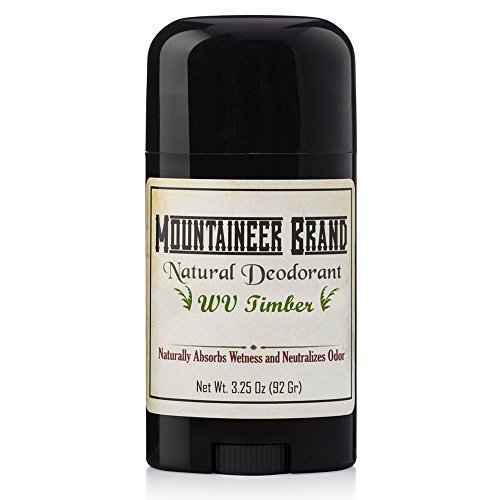 - Natural Aluminum-Free Deodorant Stick by Mountaineer Brand | Stay Fresh With Nontoxic Ingredients | 3.25 oz (Timber Scent)