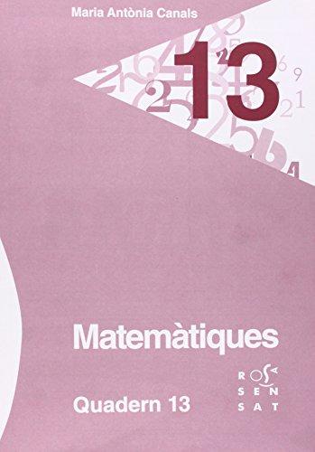 Descargar Libro Matemàtiques. Quadern 13 Maria Antònia Canals