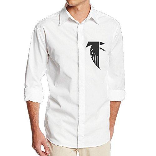 Atlanta Freddie Falcon NF18G Men's Gentle Long Sleeve Dress Shirt - SizeL White