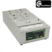 CGoldenWall 12kg Capacity 5 Tanks Commercial Electric Chocolate melter Chocolate melting machine Chocolate melting pot chocolate tempering machine Digital Chocolate Warmer 110V/220V CE