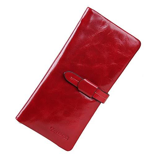 Ghc A Aderenza Portamonete E Red Clutch Pelle Capacity Portafoglio Donna Lunga Casual Large In Da rPwxrqO