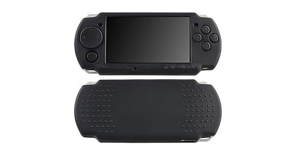 Negro Silicona Goma Funda Carcasa Para Sony PSP Fina 2000 ...