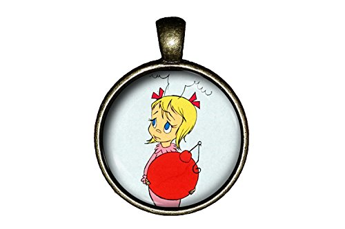 The Grinch CINDY LU WHO necklace handmade jewelry ability pendant
