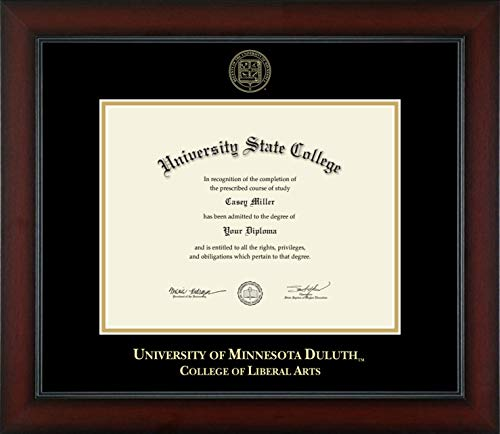 University of Minnesota Duluth College of Liberal Arts - Officially Licensed - Gold Embossed Diploma Frame - Diploma Size 11
