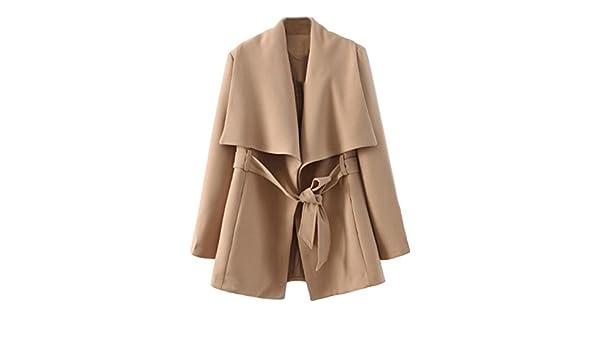 Sheinside - Abrigo - para mujer aprikosenfarben medium: Amazon.es: Ropa y accesorios
