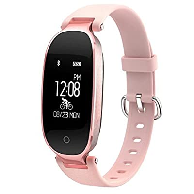 Fitness Tracker for Women With Heart Monitor Activity Tracker With Heart Rate Monitor Step Counter Waterproof Smart Wristband for Android and IOS by ADVANCED S.A.M. LIGHT PINK