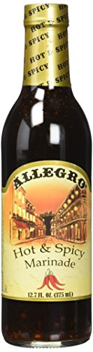 Allegro , Hot & Spicy Marinade. 12.75 Fl. Oz (PACK OF 3)