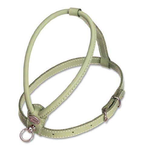 Petego La Cinopelca Soft Flat Calfskin Dog Harness, Light Blue, Fits Neck 6 Inches to 8 Inches, Chest 11 Inches to 14 (Calfskin Harness)