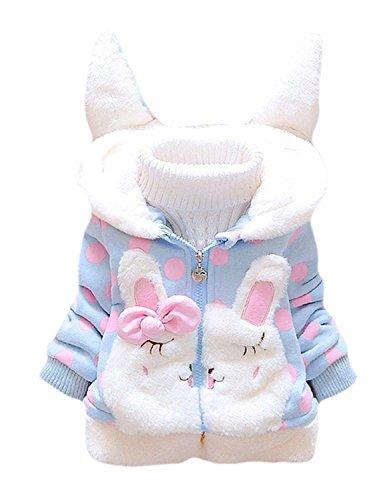 Tkiames Kids Baby Grils Fleece Jackets Cartton Hooded Coat Winter Hoodie Warm Outerwear (Wool Bunting)