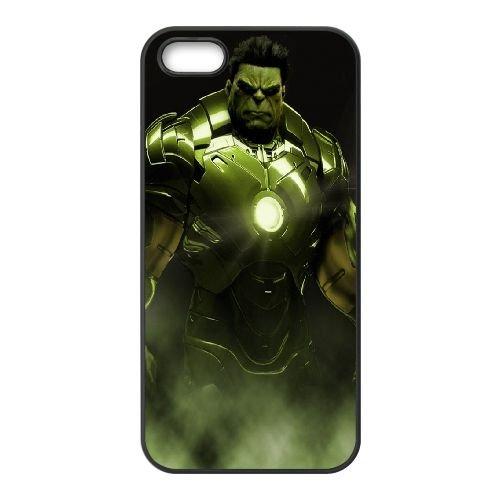 901 Hulk Iron Man L coque iPhone 5 5S cellulaire cas coque de téléphone cas téléphone cellulaire noir couvercle EOKXLLNCD21125