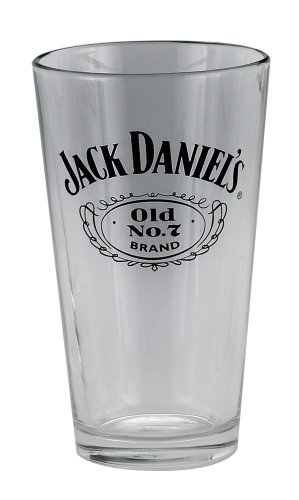 (Jack Daniels Licensed Barware 8503 Swing and Cartouche Mixing glass, 16 oz, Clear )