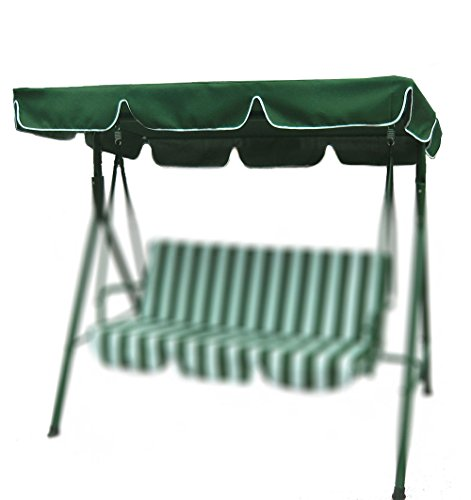 Porch Swing Canopy with UV Blocking Waterproof Park Seat Top Cover Replacement for Outdoo Bench Patio Yard Furniturer Green (75' X 52')