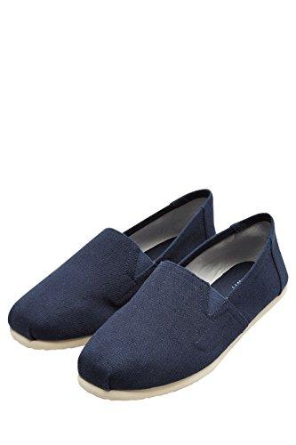 next Hombre Zapatillas Lona Sin Cordones Corte Regular Azul Marino