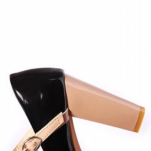Carol Scarpe Moda Donna Eleganza Mary Jane Stella Ciondolo Fibbia Piattaforma Tacco Alto Abito Da Sposa Pompe Scarpe Nere