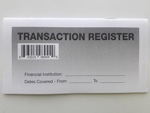 6 - Checkbook Registers - 2018 -19- 20 Calendar - Transactions Checking Book Bank