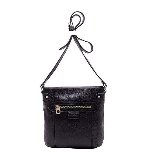 Black Designer En Bandoulière Sac Sacs Body Cuir Bag Grand Main Loisirs Vintage Cross tout À Fourre Véritable Main,femmes Moto fqwR1xOUw