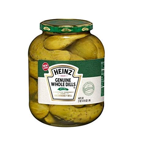 Whole Dill Pickles - Heinz Genuine Whole Dills, 46 oz (Pack of 6)