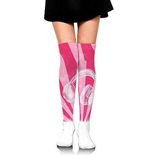 プロテスタント遠え集中的なイヤホン ストッキング サイハイソックス 3D デザイン 女性男性 秋と冬 フリーサイズ 美脚 かわいいデザイン 靴下 足元パイル ハイソックス メンズ レディース ブラック