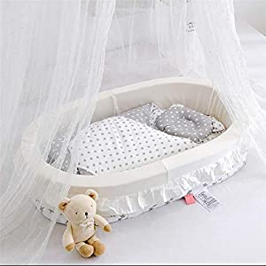 Baby Nest for Newborn and Babies, Baby Pod Cocoon Double Sided, Baby Bassinet for Bed/Lounger/Nest/Pod/Cot Bed/Sleeping, Breathable & Hypoallergenic Cotton/White