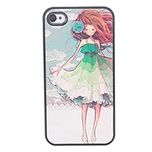 BuW Girl with Flower Pattern Hard Case for iPhone 4/4S, iphone 4, iphone 4s cases, iphone 4 cases, iphone cases