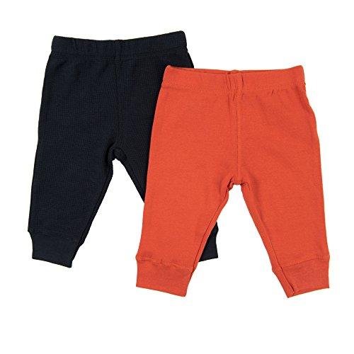 Leveret Baby Legging 2 Pack Navy & Orange 18 Months ()