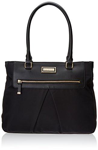Calvin Klein Nylon Tote BlackGold One Size