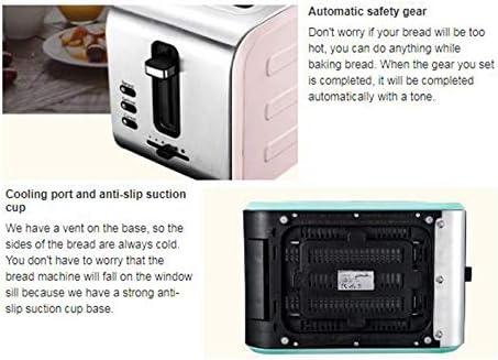 STARAYS Machine De Petit Déjeuner, Mini Grille-Pain Multifonctionnel en Acier Inoxydable, Équipement Électrique De Cuisine,Gris