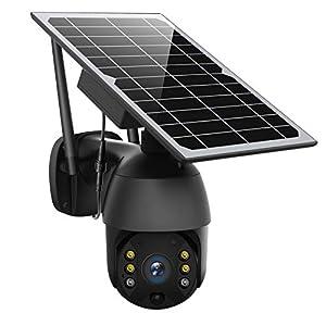 Flashandfocus.com 41Z7%2BSGYtKL._SS300_ Solar Powered Wireless Security Camera Outdoor,ENSTER Pan Tilt WiFi Home Smart Cam Waterproof with Spotlight,Battery…