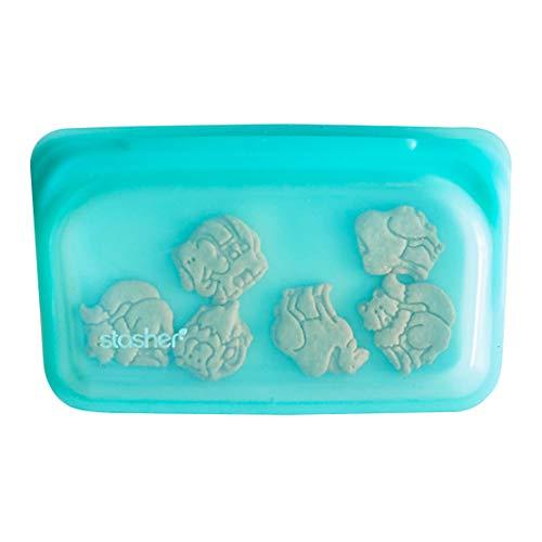 Stasher Reusable Silicone Food Bag, Snack Bag, Storage Bag, Aqua