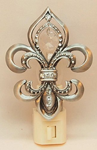 Fleur de Lis Pewter Night Light with Hanging (Fleur Night Light)