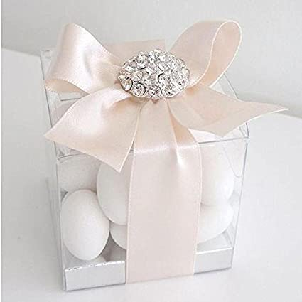 Amazon Balsacircle 25 Clear Transparent Plastic Wedding Favor