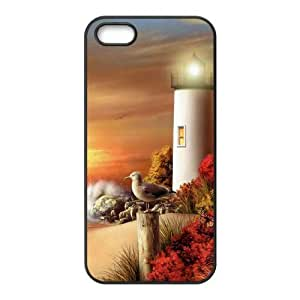 LZHCASE Diy Customized Hard Case Lighthouse for iPhone 5,5S [Pattern-1]
