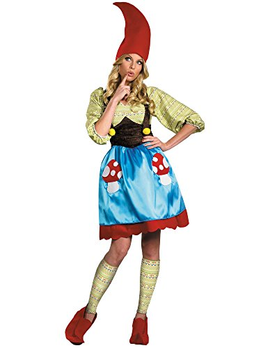 Disguise Women's Ms. Gnome Costume, Blue/Green/Red, Large]()