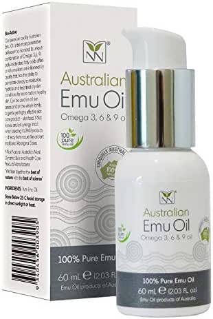 Y-Not Natural - Organic Pharmaceutical 100% Pure Emu Oil (60 ml) | Free Range Aboriginal Omega 3, 6 & 9 Oil for Hypoallergenic Skin Care, Hair and Healing | All Natural Source of Vitamin K2