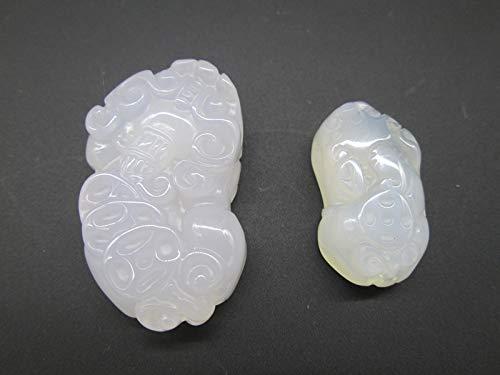 Lucky Brave Natural Brazilian Agate Pendant Necklace Wholesale Open Light Jade Carnelian (Trumpet About: 2.6X1.5Cm