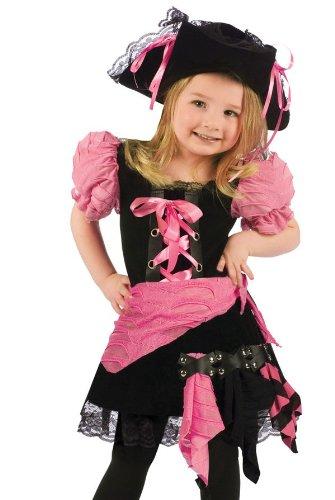 Fun World Girls' Toddler Pink Punk Pirate, Multi, Small