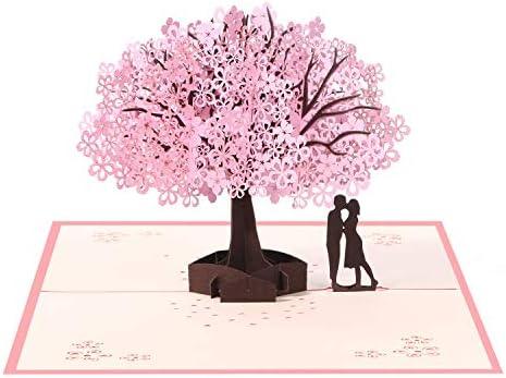 Vicloon Tarjetas de Felicitación, Tarjeta de San Valentín con Sobre, Tarjeta de Felicitación Pop Up 3D, Tarjeta de Felicitación de Boda e Invitación, ...