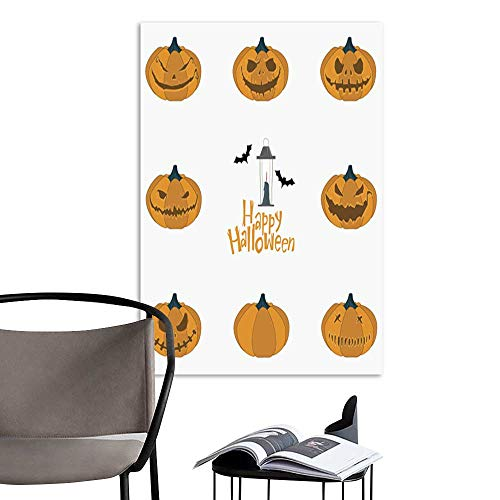 UHOO Arts PaintingHalloween Pumpkin Carving Set Happy Halloween Typography Vector.jpg Artwork for Gift for Home Decor 12