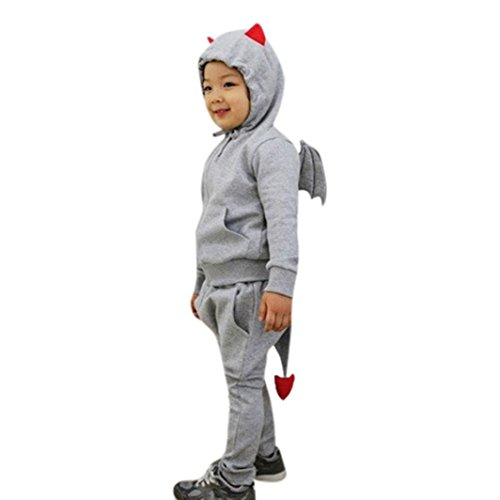 TiTCool Halloween Demon Toddler Baby Boys Girls Clothes Set Hoodie Tops+Pants Outfits (4T, (Demon Outfits Halloween)