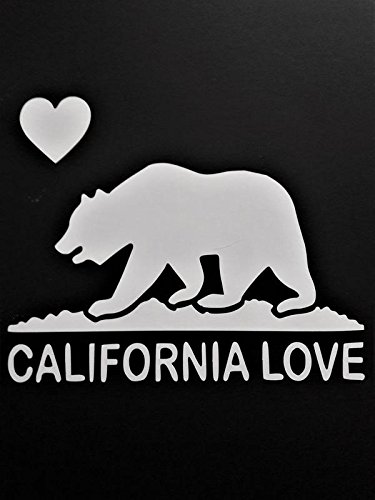 Caifornia Republic California Bear Cali Vinyl Decal Sticker|WHITE|Cars Trucks Vans SUV Laptops Wall Art|5.5