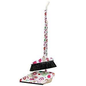 Amazon Com Flower Power Floral Broom And Dustpan Set
