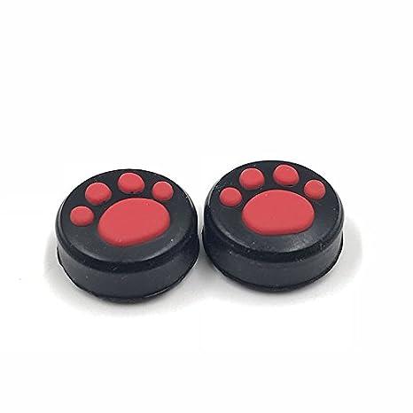 2 Piezas de Mancuernas de Silicona con Diseño de Huella de Gato para el Pulgar, para Nintendo Switch Joy-con: Amazon.es: Electrónica