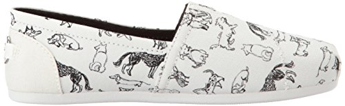 Skechers Bobs From Womens Bobs Plush-Dream Doodle Ballet Flat, White, 8 M US