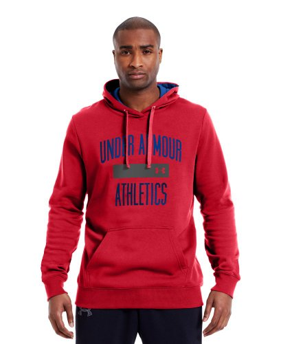 (Under Armour Men's Charged Cotton Storm Battle Hoodie (Red/Royal/Royal, Large))