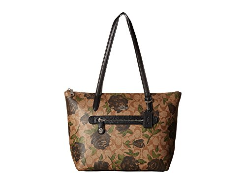 COACH Women's Camo Rose Taylor Tote Silver/Khaki/Black One Size
